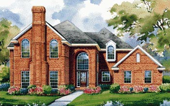 European House Plan 67851 with 4 Beds, 4 Baths, 4 Car Garage Front Elevation