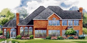 European House Plan 67851 Rear Elevation