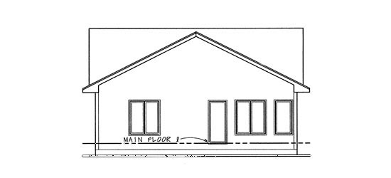 House Plan 67853 | Country, European Style House Plan with 1469 Sq Ft, 2 Bed, 2 Bath, 2 Car Garage Rear Elevation