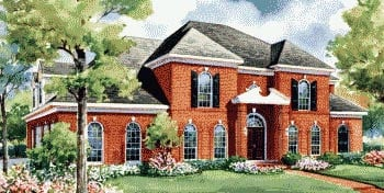 European House Plan 67854 Elevation