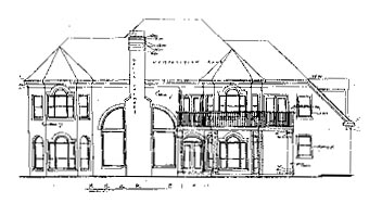 European House Plan 67854 Rear Elevation