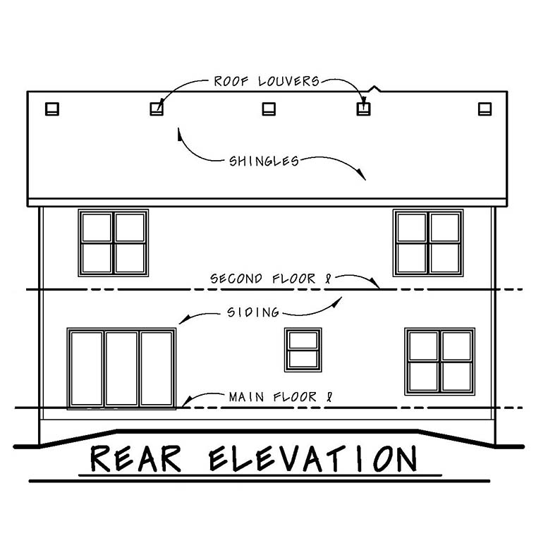 Traditional House Plan 67855 Rear Elevation