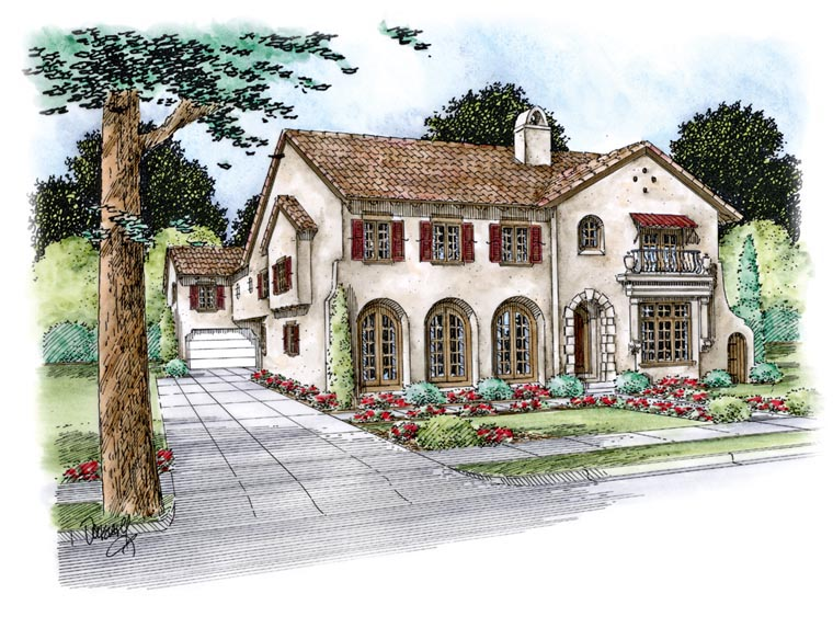 Mediterranean House Plan 67856 Elevation