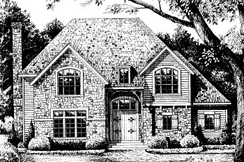 European House Plan 67858 Elevation