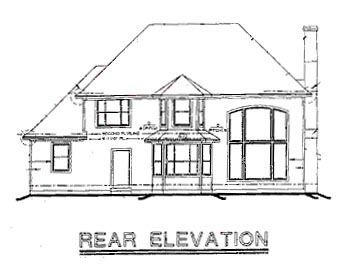 European House Plan 67858 Rear Elevation