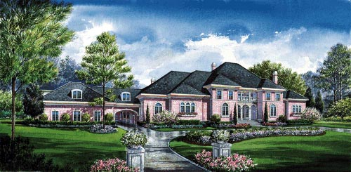 European House Plan 67859 with 5 Beds, 9 Baths, 3 Car Garage Elevation