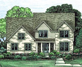 House Plan 67871 | Country Style Plan with 2665 Sq Ft, 4 Bedrooms, 3 Bathrooms, 3 Car Garage Elevation