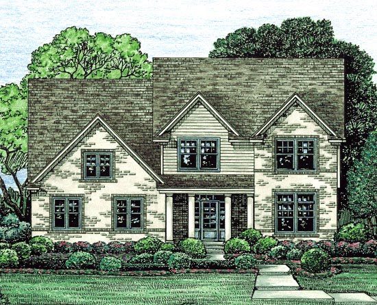 Country House Plan 67871 with 4 Beds, 3 Baths, 3 Car Garage Elevation
