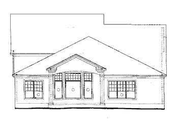 Country House Plan 67871 with 4 Beds, 3 Baths, 3 Car Garage Rear Elevation