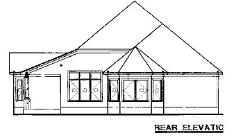 Country House Plan 67872 Rear Elevation