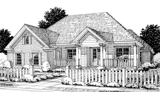 Colonial, Traditional House Plan 67881 with 4 Beds , 3 Baths , 2 Car Garage Elevation
