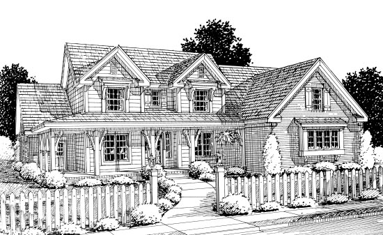 Country House Plan 67883 Elevation