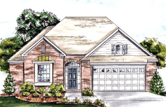 European House Plan 67886 Elevation