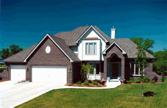 European House Plan 67887 Elevation