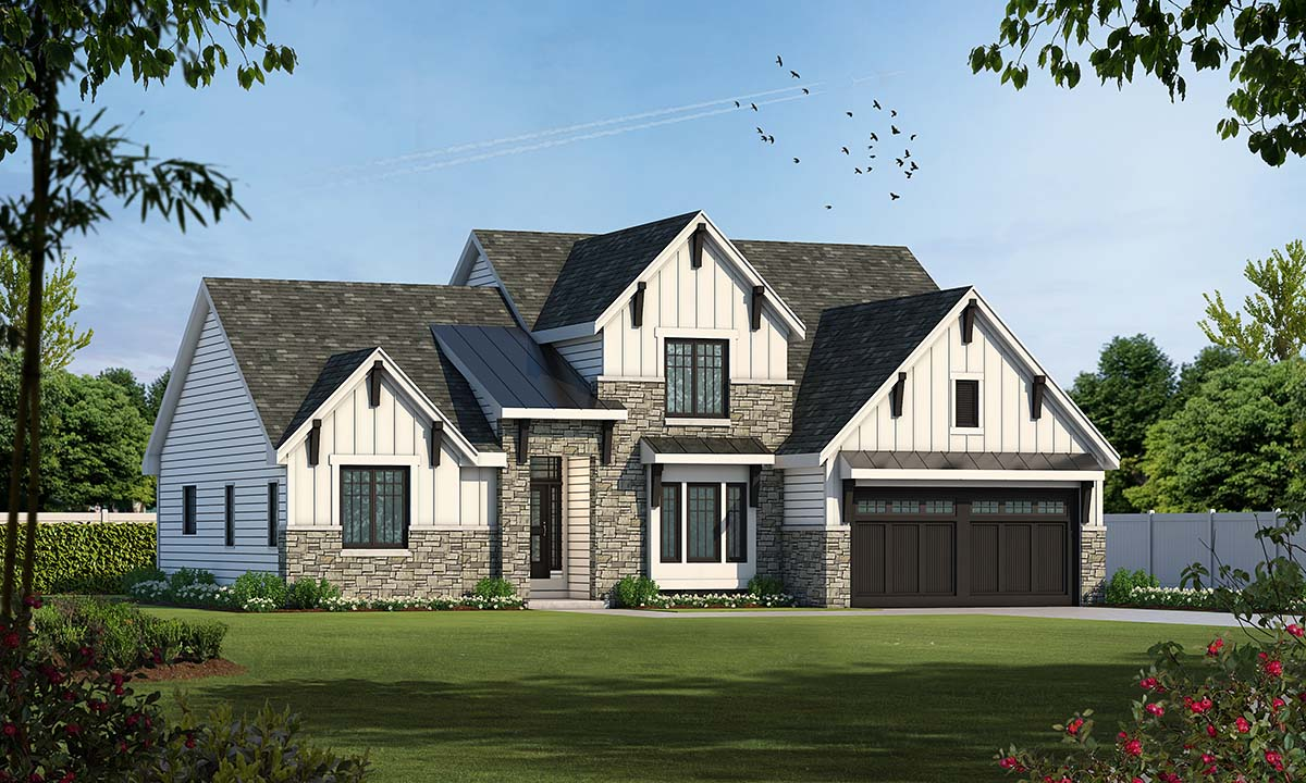 Craftsman House Plan 67891 Elevation