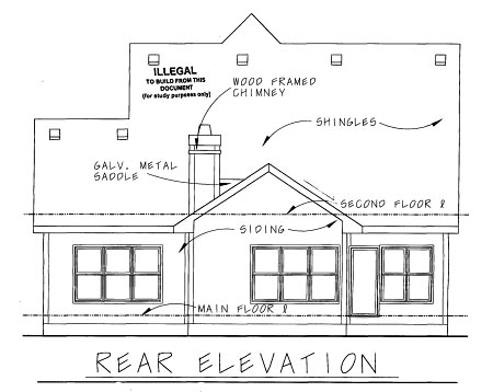 Bungalow House Plan 67900 Rear Elevation
