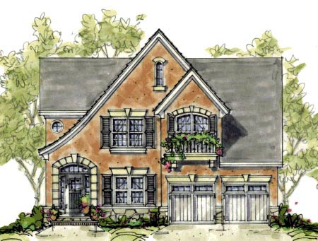 House plan 67901 at for Small tudor house plans