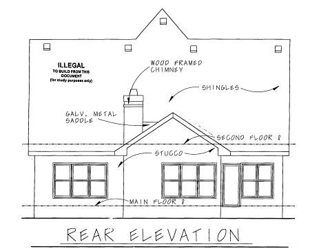 Tudor House Plan 67901 Rear Elevation