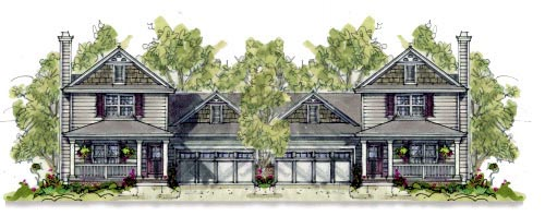 Multi-Family Plan 67903 Elevation