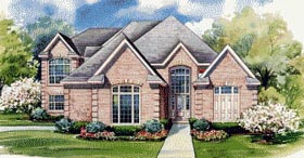 House Plan 67906   European Style Plan with 4513 Sq Ft, 4 Bedrooms, 4 Bathrooms, 2 Car Garage Elevation