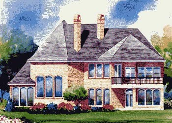 European House Plan 67906 Rear Elevation