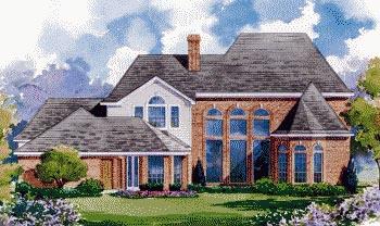 European House Plan 67908 Rear Elevation