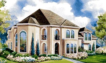 European House Plan 67911 with 4 Beds, 4 Baths, 3 Car Garage Elevation