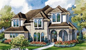 House Plan 67912 | European Style Plan with 3652 Sq Ft, 4 Bedrooms, 4 Bathrooms, 3 Car Garage Elevation