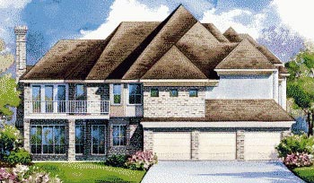 European House Plan 67912 Rear Elevation