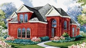 European House Plan 67913 Elevation