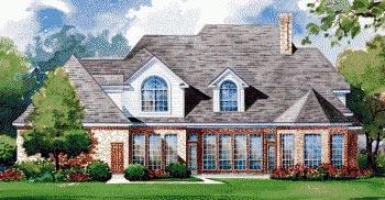 European House Plan 67915 Rear Elevation