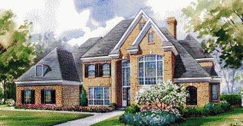European House Plan 67916 Elevation
