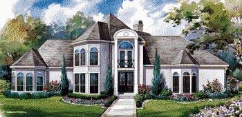 European House Plan 67919 Elevation
