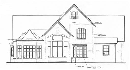 Tudor House Plan 67923 Rear Elevation