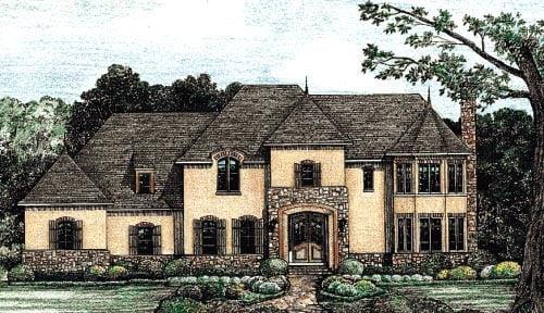 Tudor House Plan 67924 Elevation