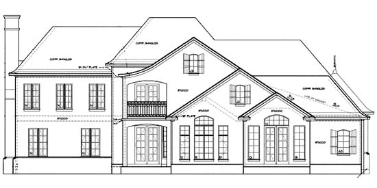 Tudor House Plan 67924 Rear Elevation