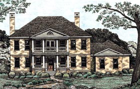 Colonial House Plan 67925 Elevation