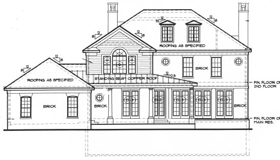 Colonial House Plan 67925 Rear Elevation