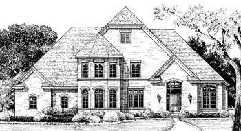 European Victorian House Plan 67940 Elevation