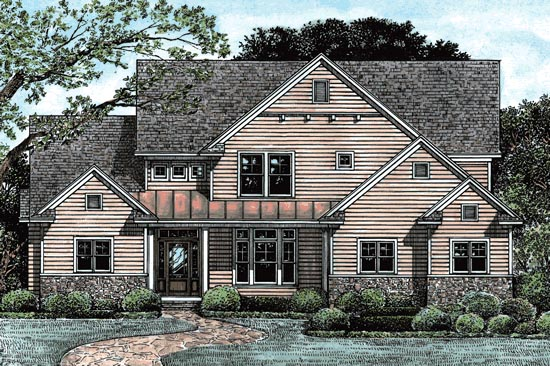 Country House Plan 67941 Elevation