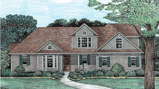 Traditional House Plan 67943 Elevation