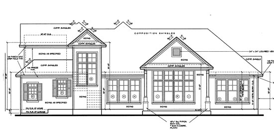 Traditional House Plan 67943 Rear Elevation