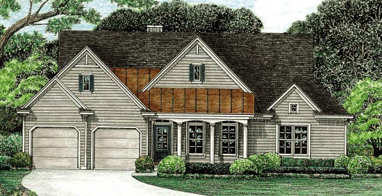 Traditional House Plan 67945 Elevation