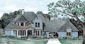 House Plan 67947 | Victorian Style Plan with 2576 Sq Ft, 4 Bedrooms, 4 Bathrooms, 2 Car Garage Elevation