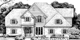 European House Plan 67949 Elevation