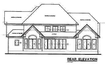European House Plan 67949 Rear Elevation