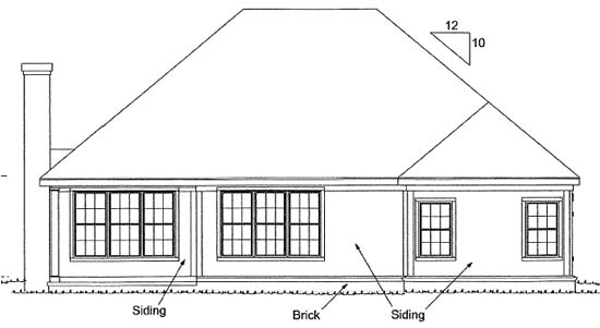 Traditional House Plan 67952 Rear Elevation
