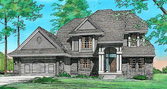 House Plan 67956 | Traditional Style Plan with 2478 Sq Ft, 4 Bedrooms, 3 Bathrooms, 2 Car Garage Elevation