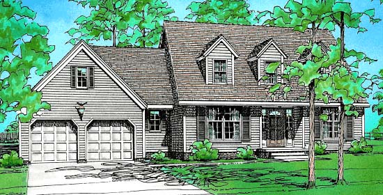 Country House Plan 67957 Elevation