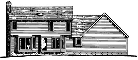 Country House Plan 67957 Rear Elevation